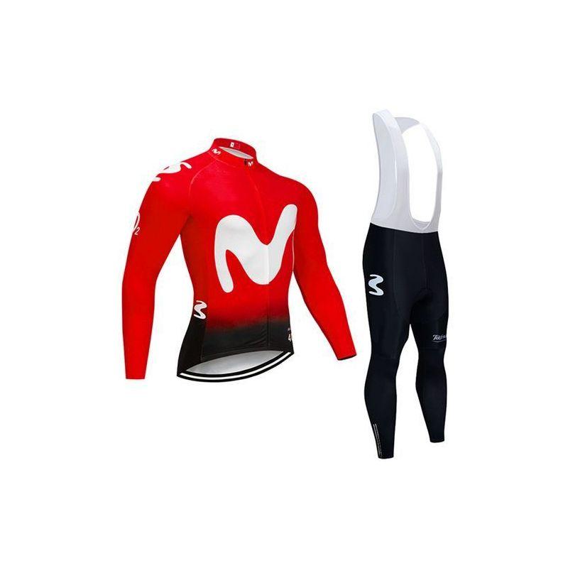 Equipación ciclismo MOVISTAR 2020 Térmico hombre OUTLET